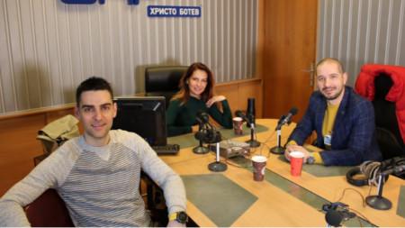"""Дарин Маджаров, Ива  Дойчинова и Симеон Колев в студиото на """"Нашият ден"""""""