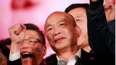 Кандидатът за президент на Тайван от опозицията Хан Кo-юй.