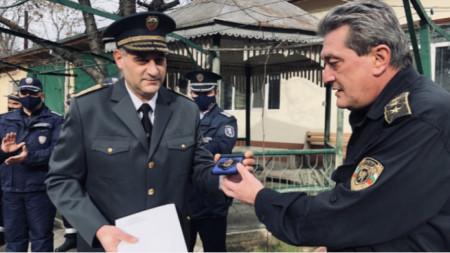 Главен инспектор Свилен Рачев и главен комисар Николай Николов