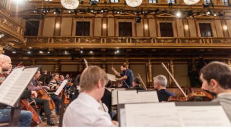 Репетиция на Виенската филхармония за Новогодишния концерт с диригента Андрис Нелсонс