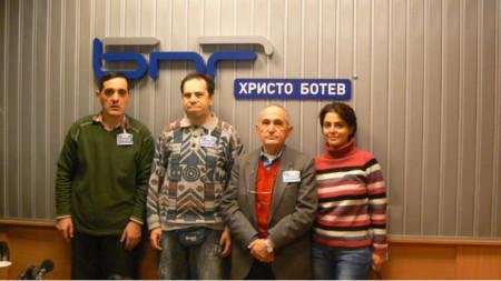 Храбър Натов-син, Виктор Христов, Храбър Натов и Диана Банчева (от ляво надясно)