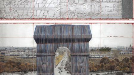 «Триумфальная арка, обернутая» – проект Кристо и Жанны-Клод