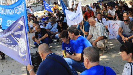 Протестът пред МЗ, 10 август 2021 г.