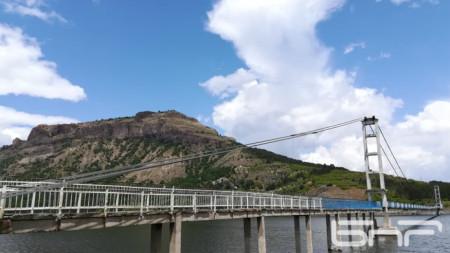 Въженият мост за с. Лисиците