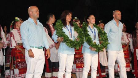 Посрещане на олимпийските шампионки Стойка Кръстева и Ивет Горанова в Плевен