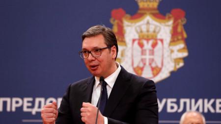 Президентът на Сърбия Александър Вучич