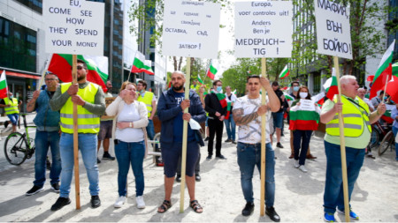 Protestë në Bruksel