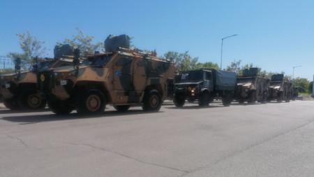 Предислоциране на военнослужещи и военна техника от Съвместните сили на НАТО с много висока степен на готовност за участие в учения в Румъния.