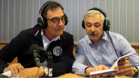 """Захари Иванов и Виктор Мелник (вдясно) в студиото на """"Артефир"""""""