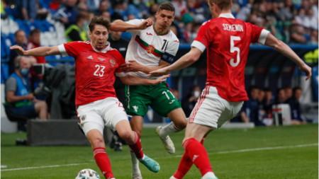Дузпа попари националите по футбол срещу Русия в Москва