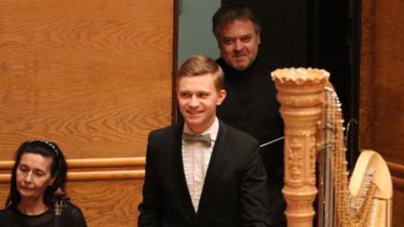 Пианистът Дмитро Чони и диригентът Марк Кадин