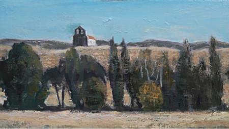"""""""Арагон"""", картина на Алберт Хаджиганев, маслени бои на платно"""