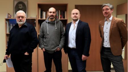 Бойко Ламбовски, Радослав Чичев, Емануил А. Видински, Даниел Ненчев (от ляво надясно)