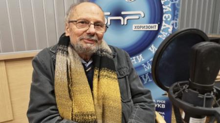 Радослав Спасов в студиото на БНР
