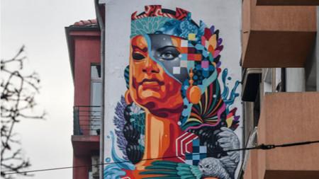 Графитът на Тристан Итън на улица