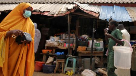 Рибен пазар в Абуджа, Нигерия.