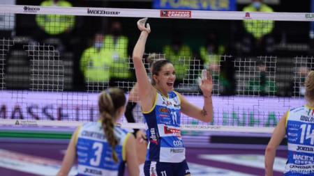Христина Вучкова се отличи с 11 точки за победата.