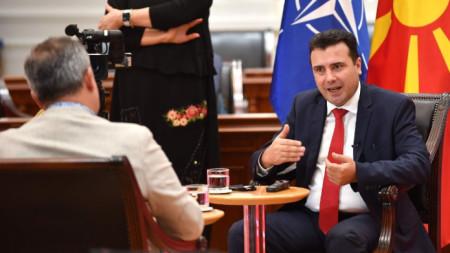 Зоран Заев в интервюто за българската агенция БГНЕС