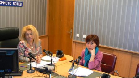 Анелия Торошанова и адвокат Мариета Генчева в студиото на