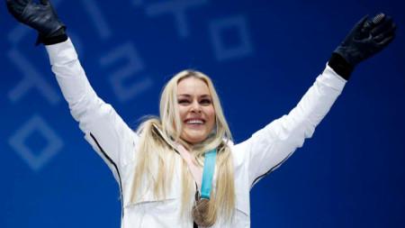 Линдзи Вон спечели бронз в спускането на Олимпийските игри в Пьончан.