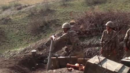 Позиция на азербайджански бойци.