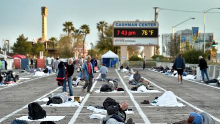 Приют за бездомници в Лас Вегас, 31 март 2020 г.