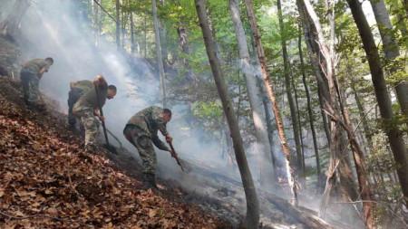 Гасенето на пожара над Югово, 22 август 2021 г.