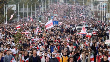Протести в Беларус срещу президента Лукашенко