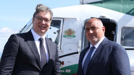 Борисов и Вучич инспектират по въздух проекти от значение за региона