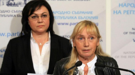 Елена Йончева и Корнелия Нинова (вляво)