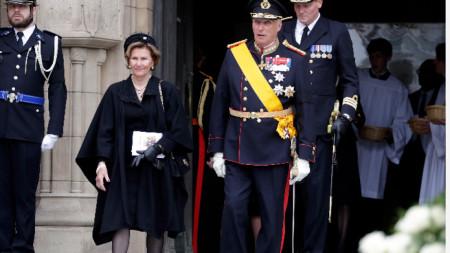 Норвежкият крал Харалд V със съпругата си кралица София