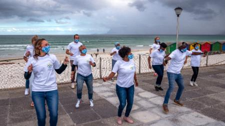 Jerusalema Dance Challenge в Кейптаун, 28 септември 2020 г.