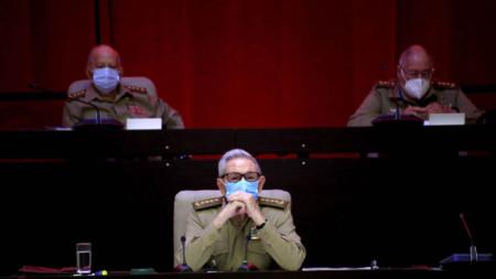 Раул Кастро на конгреса на Кубинската комунистическа партия - 16 април 2021