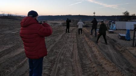 Така изглеждат разораните дюни на 14 януари