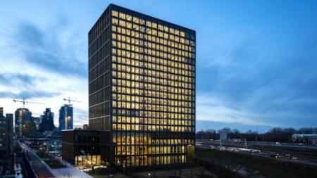 Централата на Европейската агенция по лекарствата в Амстердам.