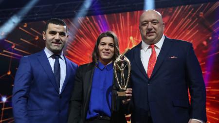 Тайбе Юсейн стана спортист номер 1 за 2018-та година, а Петър Касабов (вляво) бе избран за най-добър треньор