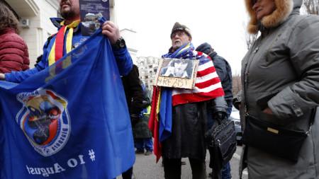 Протест в Румъния в подкрепа на Лаура Кьовеши, която управляващите в Букурещ не подкрепят за главен прокурор на ЕС.