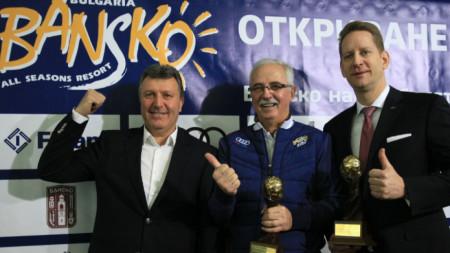 Кметът на Банско Иван Кадев (вляво) обяви, че ще работи за втори лифт.