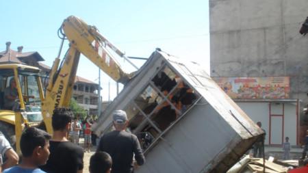 Премахване на незаконни преместваеми обекти в Пловдив, Столипиново.