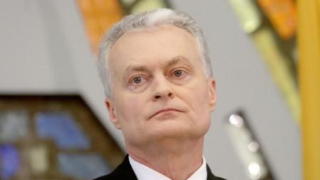 Президентът на Литва Гитанас Науседа