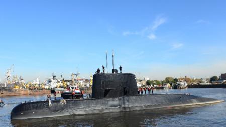 Фотографска снимка, предоставена от аржентинския флот на 17 ноември 2017 година.