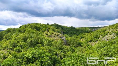Гледка от горите на Странджа край село Младежко