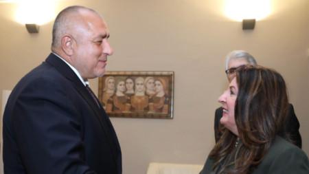 Премиерът Бойко Борисов прие извънредния и пълномощен посланик на САЩ Херо Мустафа