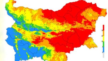 Картата за опасност от пожари за 7 август.