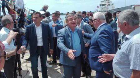 Зам.-кметът Красимир Стойчев и зам.-областният  управител Владимир Крумов бяха посрещнати от турските им колеги в Инеада