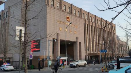 Изглед към съда в китайския град Далян, който осъди на смърт канадец за трафик на наркотици.