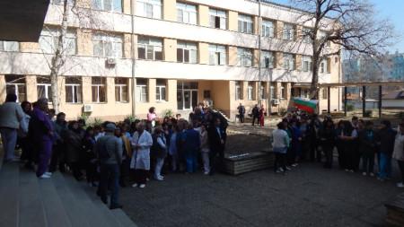 Протестът на медицинските специалисти от видинската болница на 1 март.