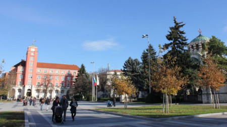 Изглед към центъра на град Плевен