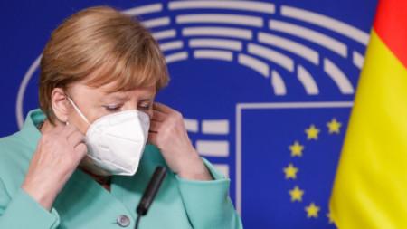Ангела Меркел участва на пленарна сесия на Европейския парламент в Брюксел