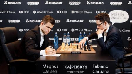 Карлсен и Каруана записаха пето реми в мача.